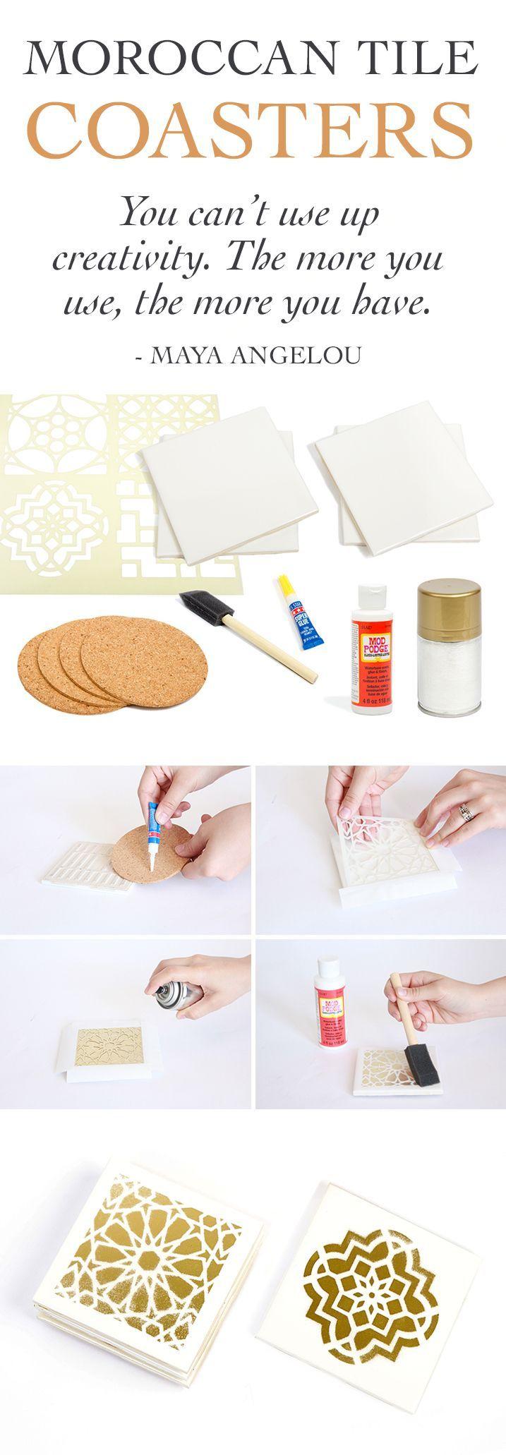 #DIY. Posa vasos hechos a mano! Una gran idea para la casa o para regalar