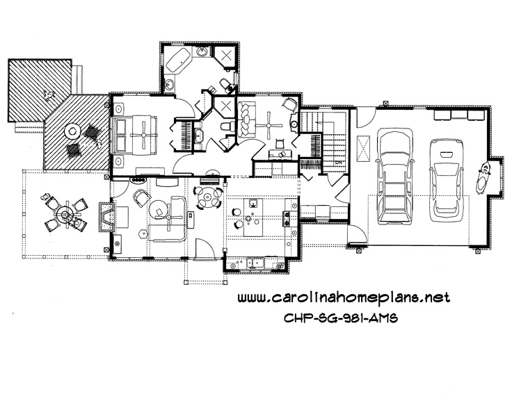 Small Craftsman Style Open Floor Plan Number Sg 981 Ams
