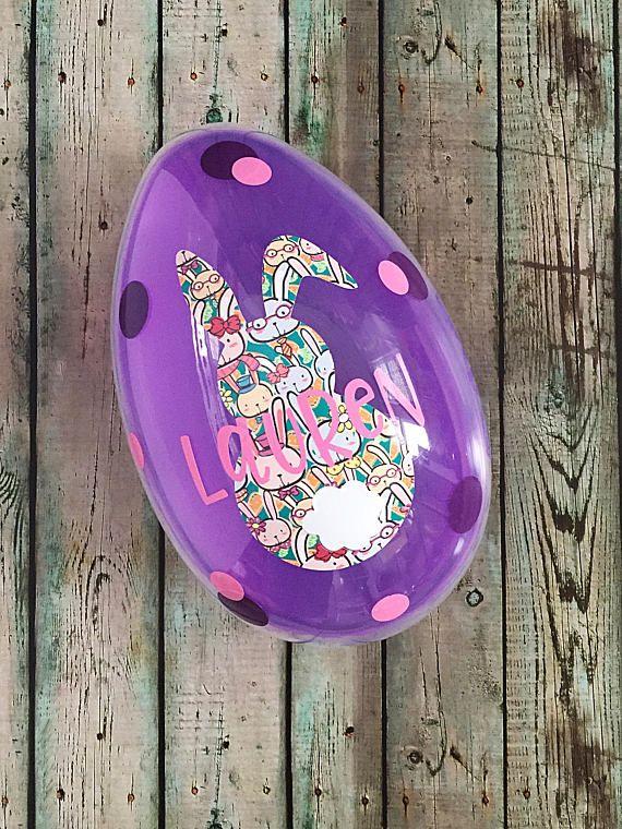 Easter Basket Easter Egg Giant Fillable Easter Egg Personalize