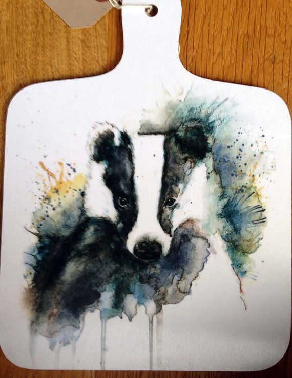 Badger chopping board picture chopping board wildlife cutting