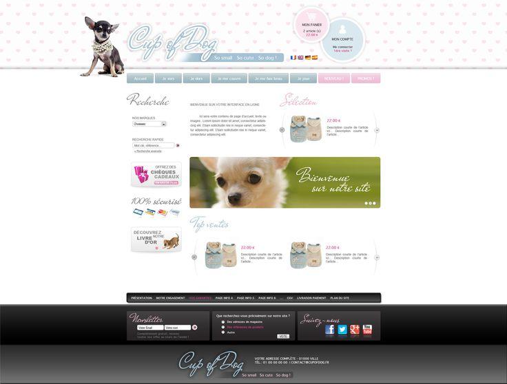 Proposition maquette site cupofdog.fr - creer site internet pour accessoires canins