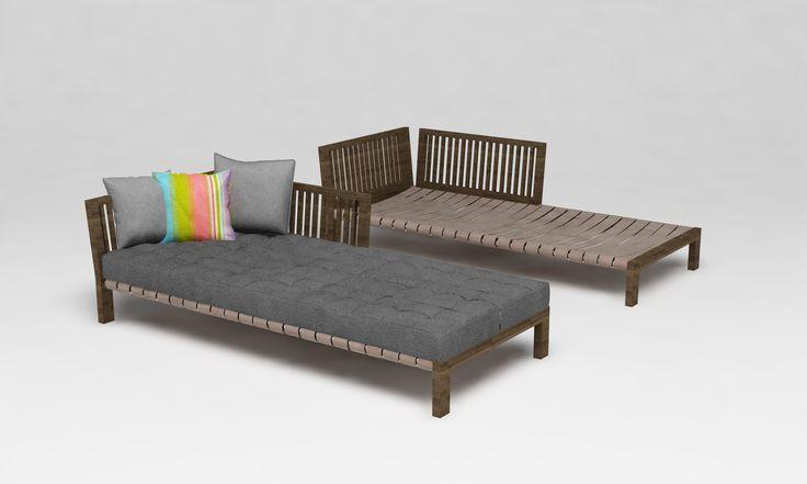 Comfortable chaise long designed by GOCOR Estudio Barcelona