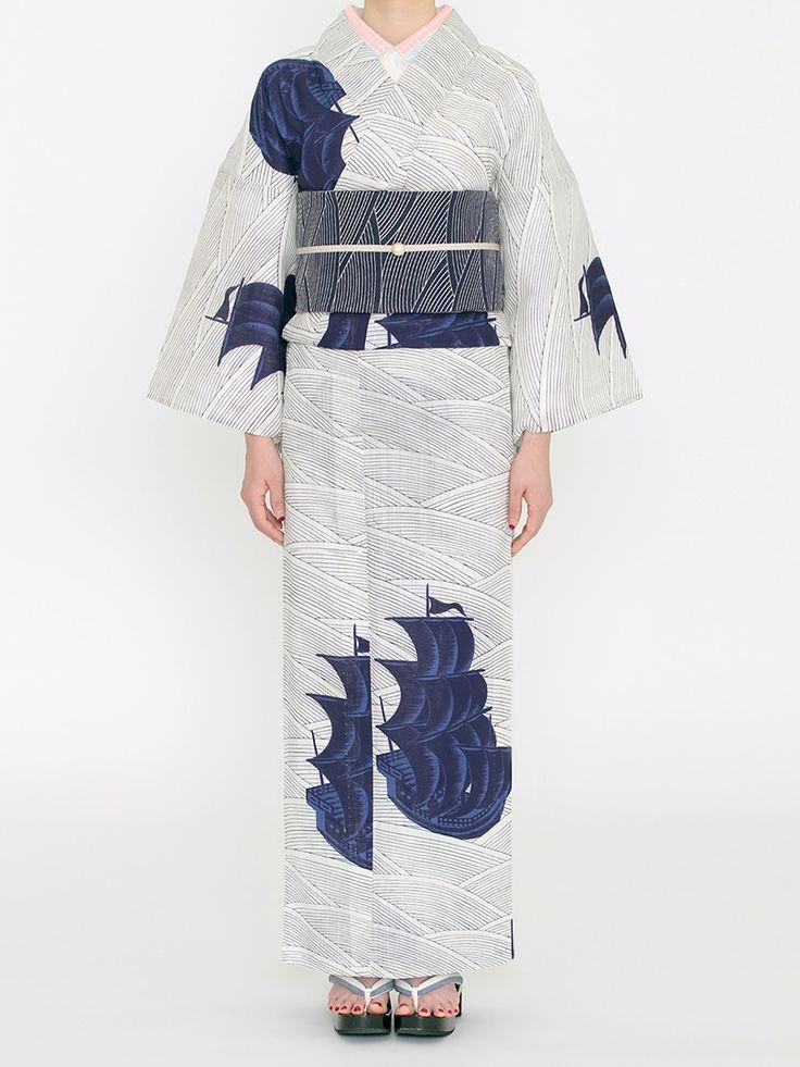 ヴォーグ 綿麻ゆかた 瑠璃紺 | DOUBLE MAISON