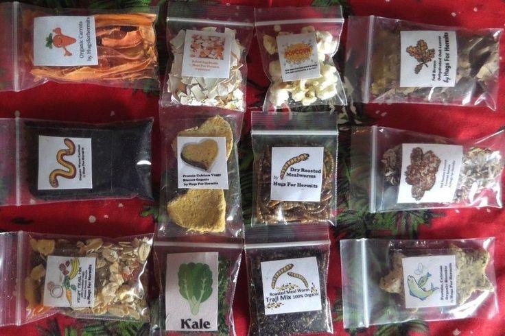Hermit Crab Food BARGAIN 12 Pack Natural Organic High Quality Hermit Crab Foods  #HandGatheredForMyOwnHermitCrabs