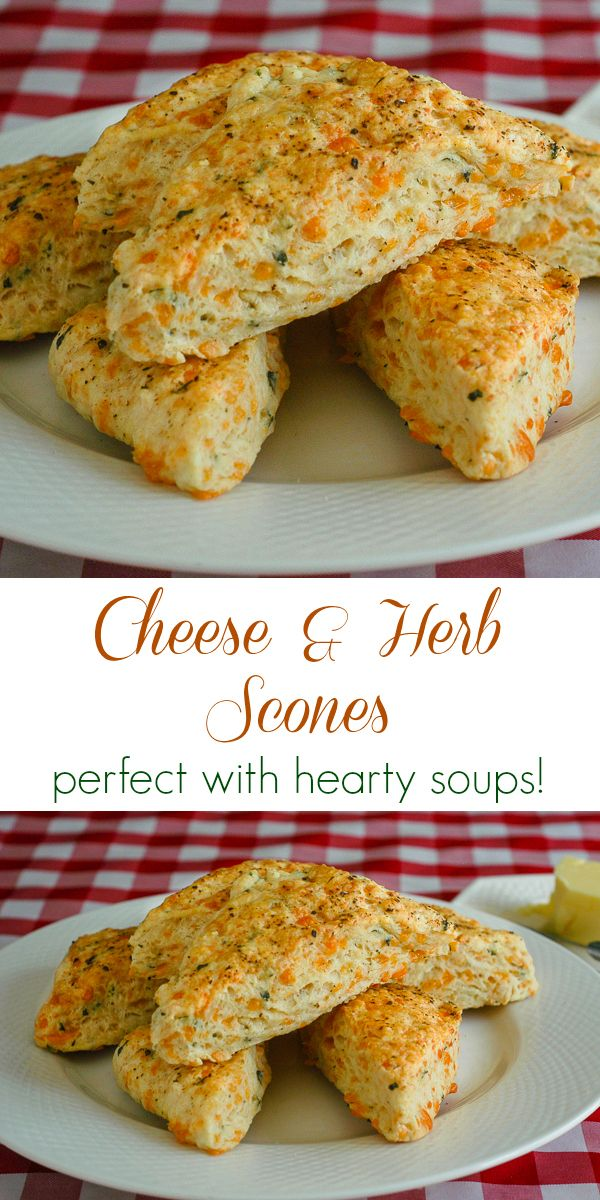 Cheese and Herb Scones & Breakfast Sandwiches - a great standard recipe for savoury scones that are delicious to serve with hearty soups...and they make the start of delicious breakfast sandwiches too.