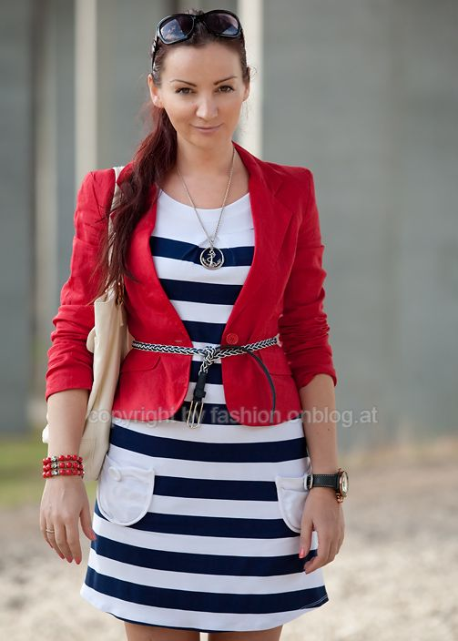 83 best u2665 navy style... images on Pinterest | Stripes Casual wear and Feminine fashion