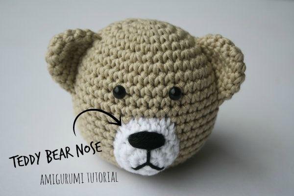 Amigurumi Doll Nose : How to stitch teddy bear nose? Amigurumi tutorial by ...
