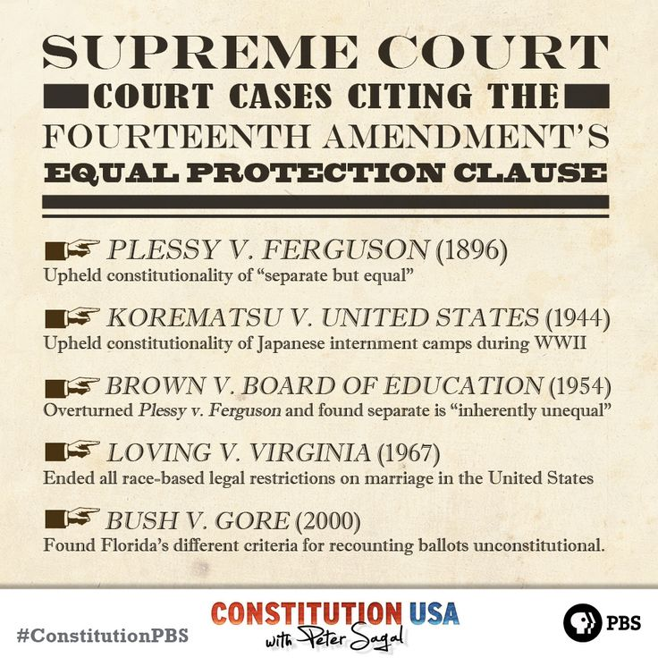 """The 14th Amendment to the U.S. Constitution was ratified in 1868.  It extended citizenship and its benefits to """"all persons born or naturalized in the United States,"""" regardless of their race or gender, although it took nearly 100 years for this principle to be enforced."""
