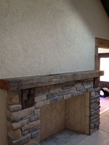 fireplace mantel beam. http www nyackwideplankflooring com Rustic fireplace mantel from hand  hewn reclaimed 18 best barn beam mantles images on Pinterest Fireplace ideas