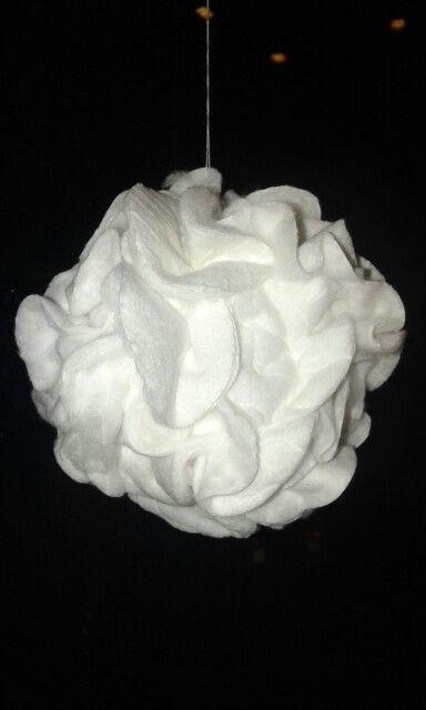 schneeball aus wattepads basteln weihnachten pinterest wattepads schneeball und. Black Bedroom Furniture Sets. Home Design Ideas