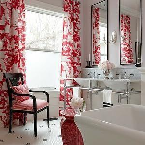 Sarah Richardson Design Bathrooms Pink Ceiling Lavender Walls Marble Top 3 Leg