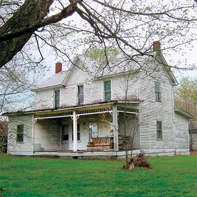Tash Family Historic 1853 Folk Victorian Home Blue River Road Pekin Indiana - Sold for $34,000