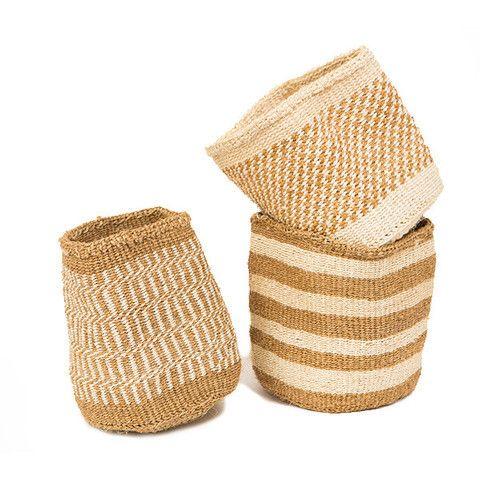African Sisal Utility Basket - Half Hitch Goods