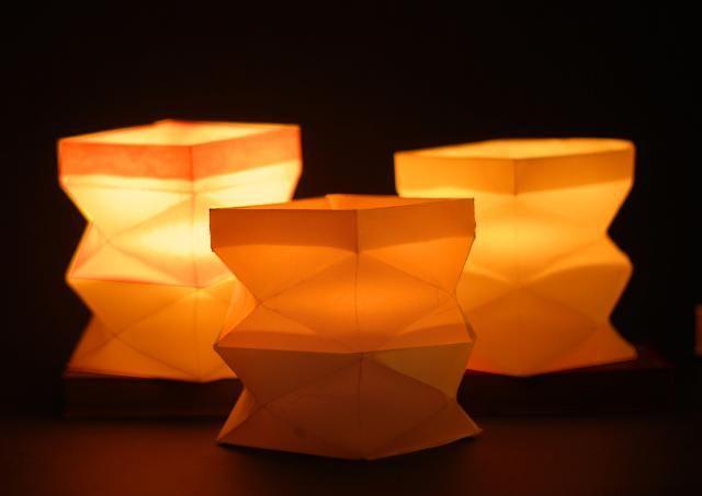 Folded Autumn Waldorf Lantern Lantern Craft, Paper Lanterns and