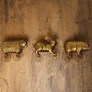 Golden Farm Animal On Wheels