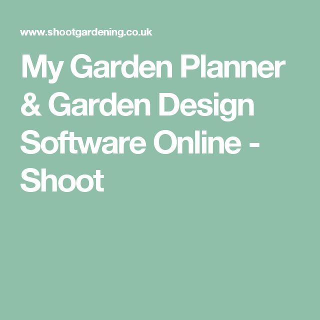 The 25 best Garden design software ideas on Pinterest Free