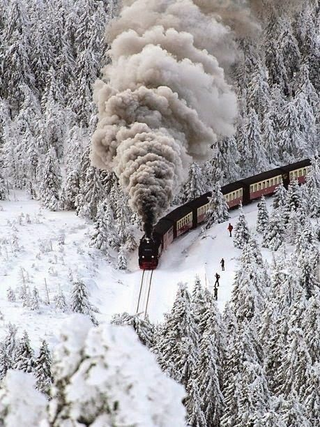 5. Looks amazing on the Snow Train, Wernigerode, Germany