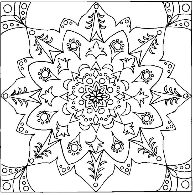 coloring pages designs geometric download free printable