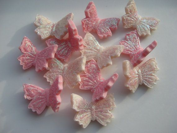 Edible Sugar Icing Butterfly Christening by ElegantEdibleIcing