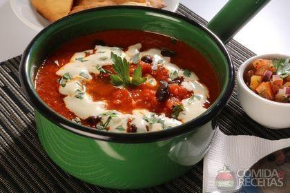 Receita de Sopa mexicana especial em receitas de sopas e caldos, veja essa e outras receitas aqui!