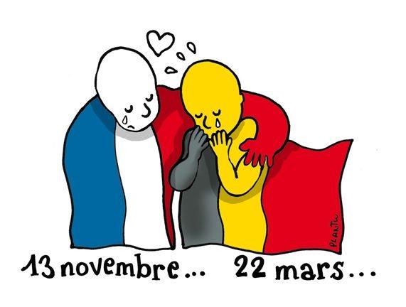 Réaction: Attentats suicides en Belgique en pleine semaine française de campagne islamophile ! Bingo !