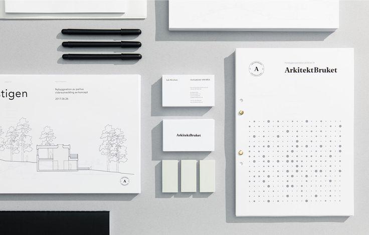 A clean brand identity for architecture firm  — Grafisk profil för arkitektbyrå