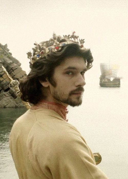 """For God's sake, let us sit upon the ground / And tell sad stories of the death of kings."" The Hollow Crown: Richard II, with Ben Whishaw. His BAFTA, awarded for good reason."