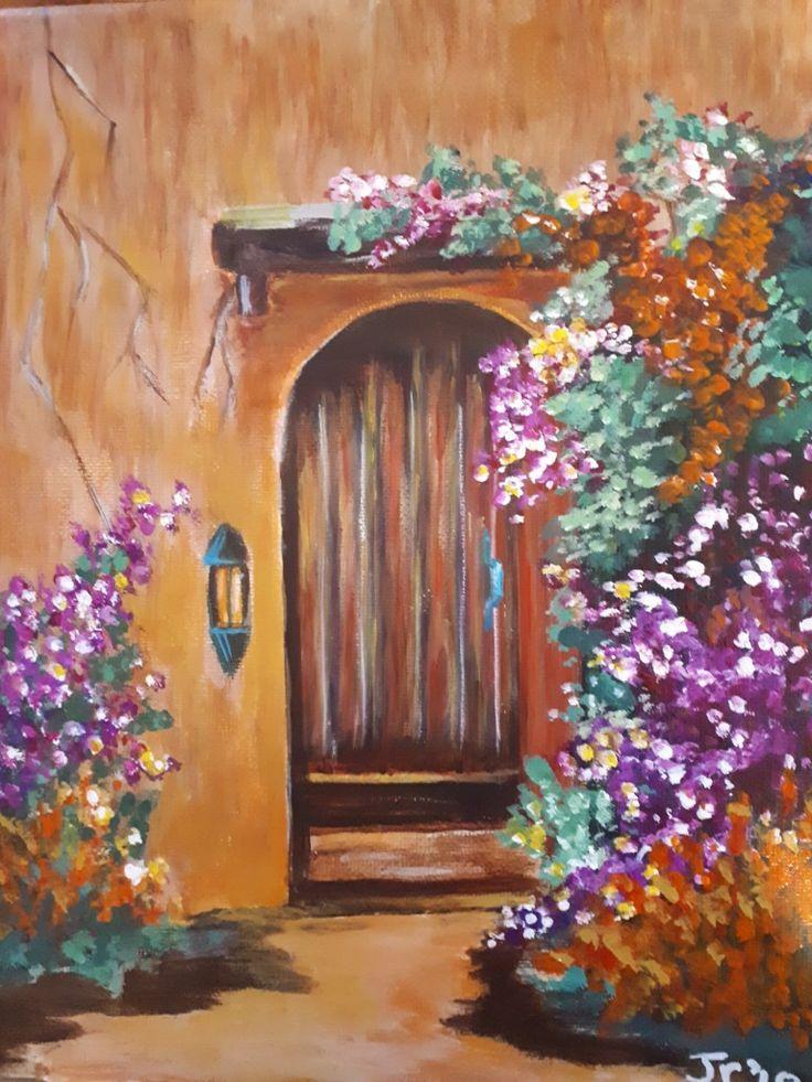 Tuscany door. 8 x 10.  Jan 2018