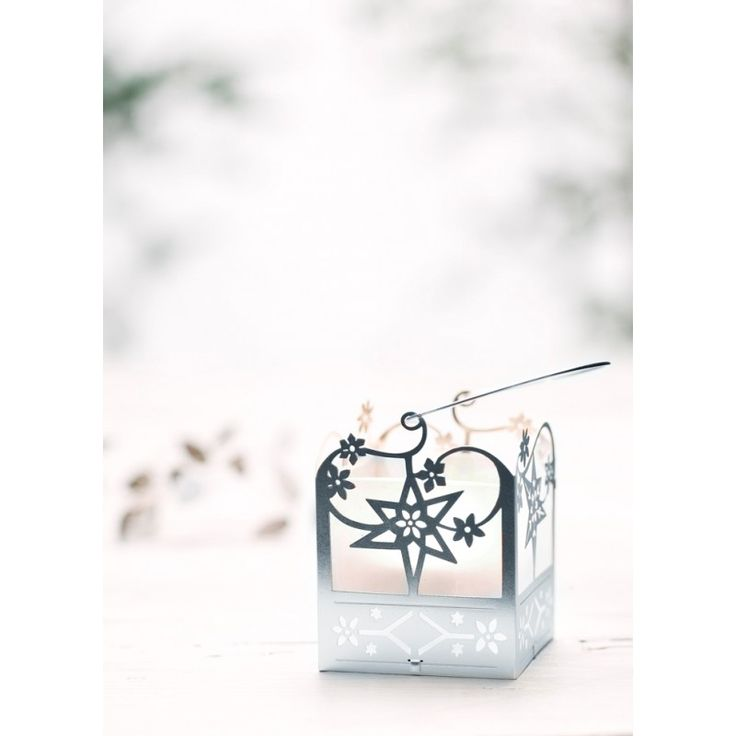 Tea light holder - Silver stars
