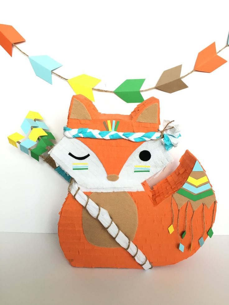 Boho inspired fox pinata A personal favorite from my Etsy shop https://www.etsy.com/listing/467908454/mini-pinata-cake-table-boho