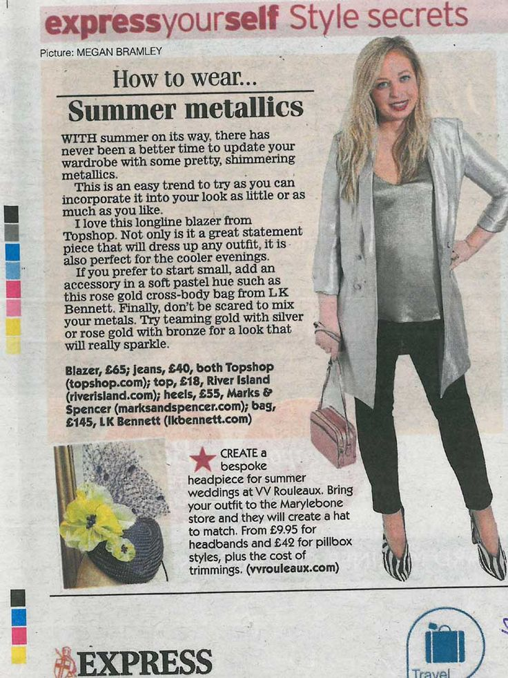 Daily Express 25th May 2017 Issue. Pop in to V V Rouleaux's Marylebone Lane shop any time for a bespoke hat creation. From £9.95 for headbands and £42 for pillbox styles, plus the cost of trimmings.