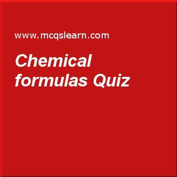 Chemical formulas Quiz