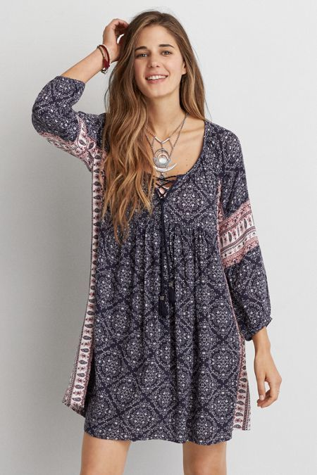 American Eagle Outfitters AEO Pattern Shift Dress