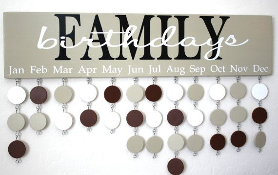 Family Birthday Board Custom Wood Sign - Family Birthday Calendar Custom Wooden Sign