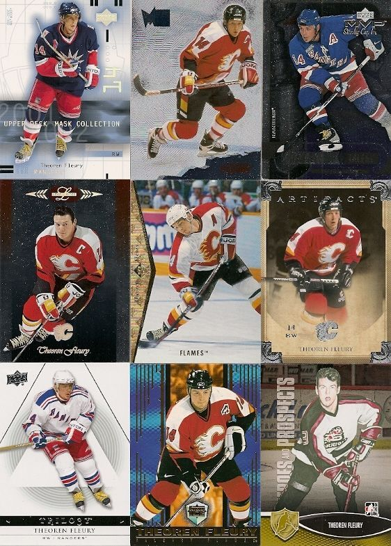 20 DIFFERENT THEOREN FLEURY HOCKEY CARDS {RC} +FREE SHIPPING!