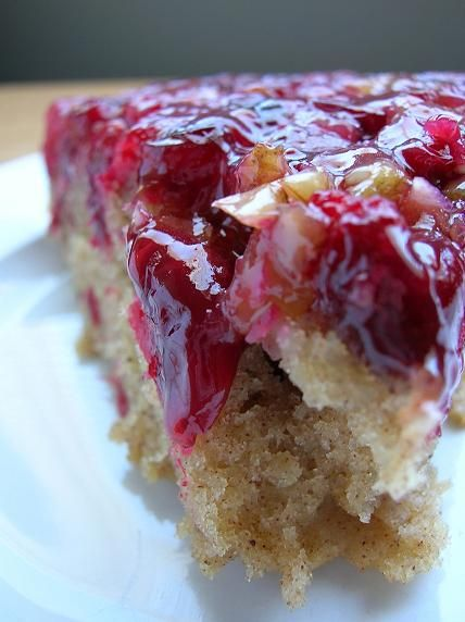 Cranberries, Cranberry cake and Cranberry upside down cake on ...