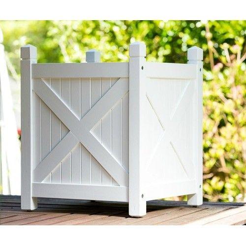 Planter Boxes White - Hamptons Style