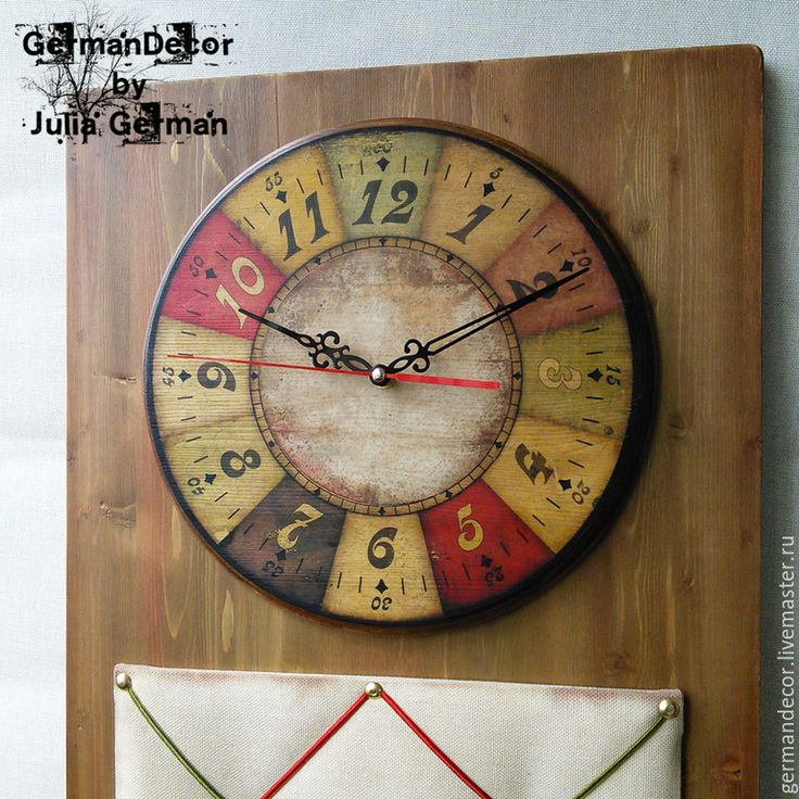 "Купить Часы - Органайзер ""Do what you love..."" - разноцветный, часы, часы настенные"