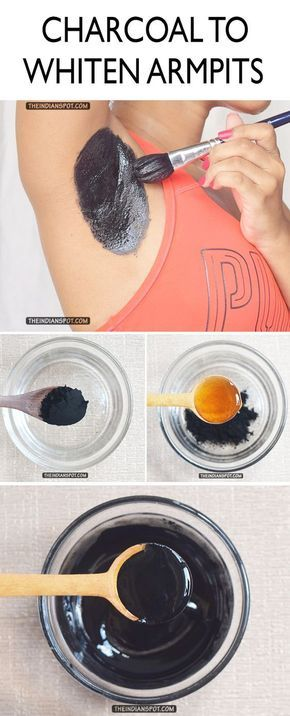 METHOD: To make this DIY armpit detoxing mask, you need the following: 2 tablespoons of activated charcoal powder 2 tablespoons of honey PROCEDURE: In a bowl, add in 2 tablespoons of charcoal followed by 2 tablespoons of raw organic honey. Mix it well.Keep mixing until you get a glossy paste.Wash and pat dry your armpits and apply the mask.Keep it for 15 minutes and wash it off thoroughly. Use the mask 3 times a week. Caution – patch test before use.