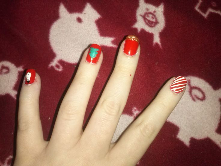 Christmas nails ⛄️ #nails #nailart