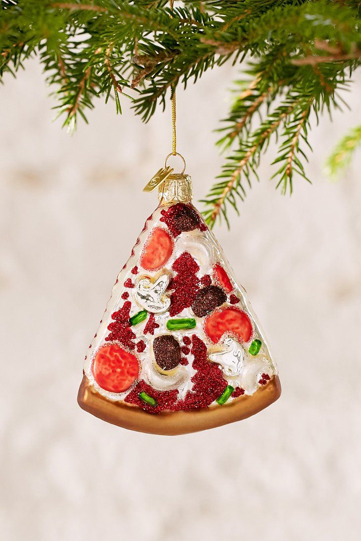 Food faith amp design thanksgiving goodies - Glitter Pizza Slice Ornament
