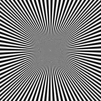 Złudzenie Optyczne, Czarny, Deseń
