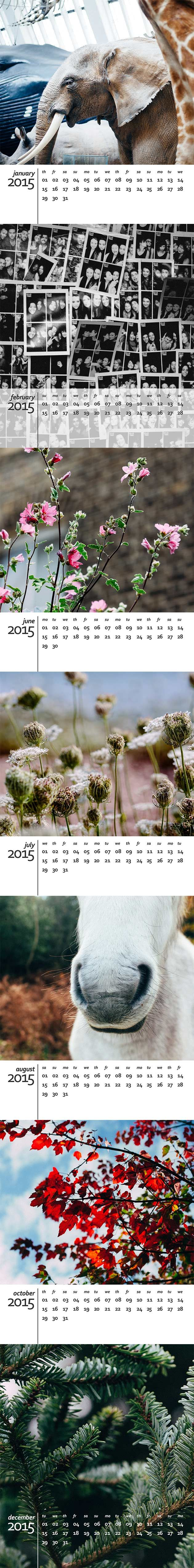 A free calendar template for 2015  http://www.angiemuldowney.co.uk/2014/10/free-2015-calendar-template-for-photoshop/ #printable #download #free #calendar