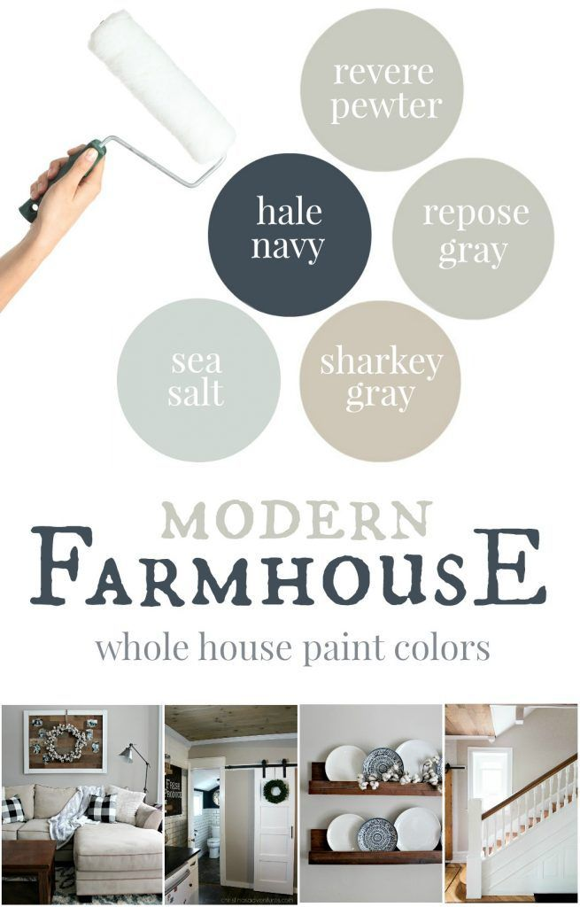 The best modern farmhouse paint colors with real life pictures to show each color. Also includes tips, tricks, and advice about every color - such a great resource!