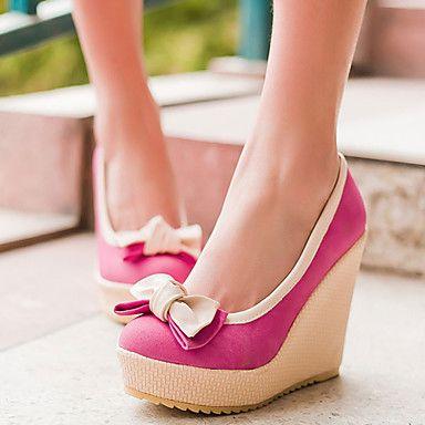 Shoes For Women Heel Heels Platform Heels Outdoor Dress Casual Blue Yellow Red C-8