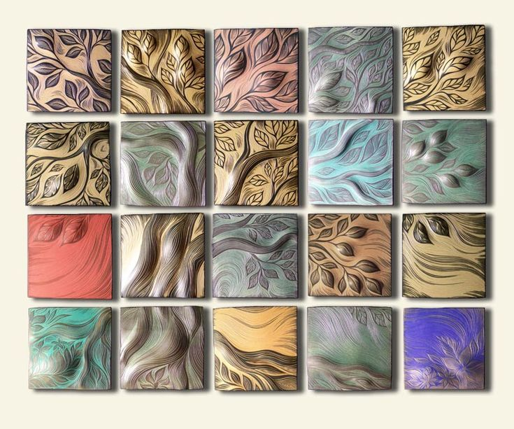 Clay Tiles Art Project | Ceramic wall art and backsplash Tile by Natalie Blake Studios ...