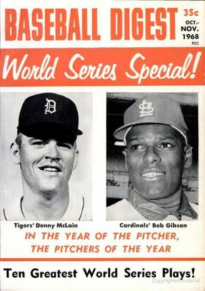 baseball digest covers | Baseball Digest - October 1968