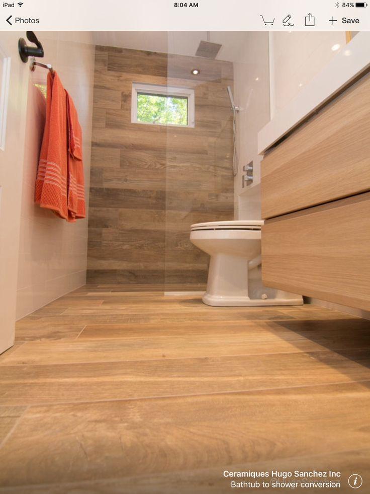 woodlike bathroom floor