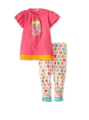 60% OFF Me Too Kid's Tunic & Legging Set (Beetroot Purple/Aop)