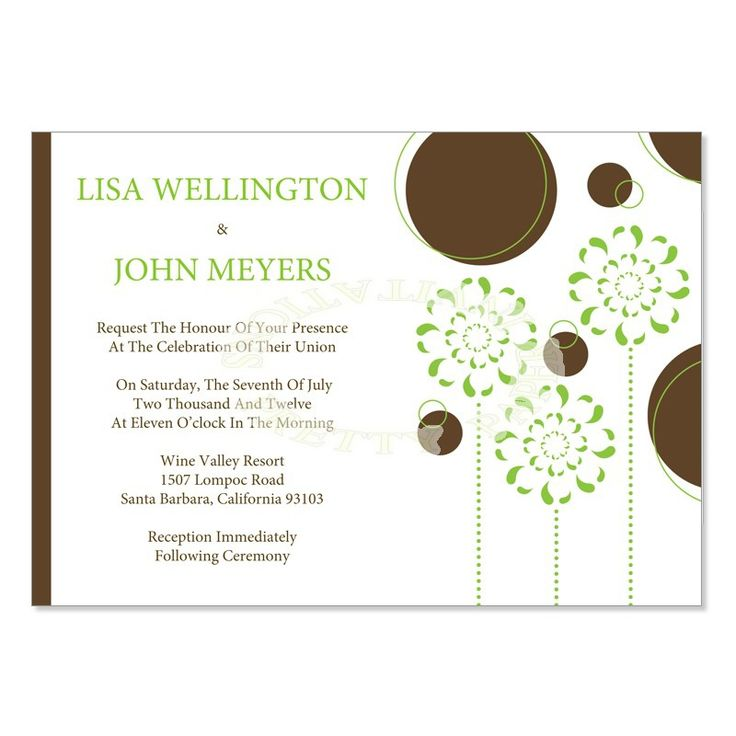 115 best Wedding Invitation Templates images on Pinterest - free printable wedding invitation templates for word